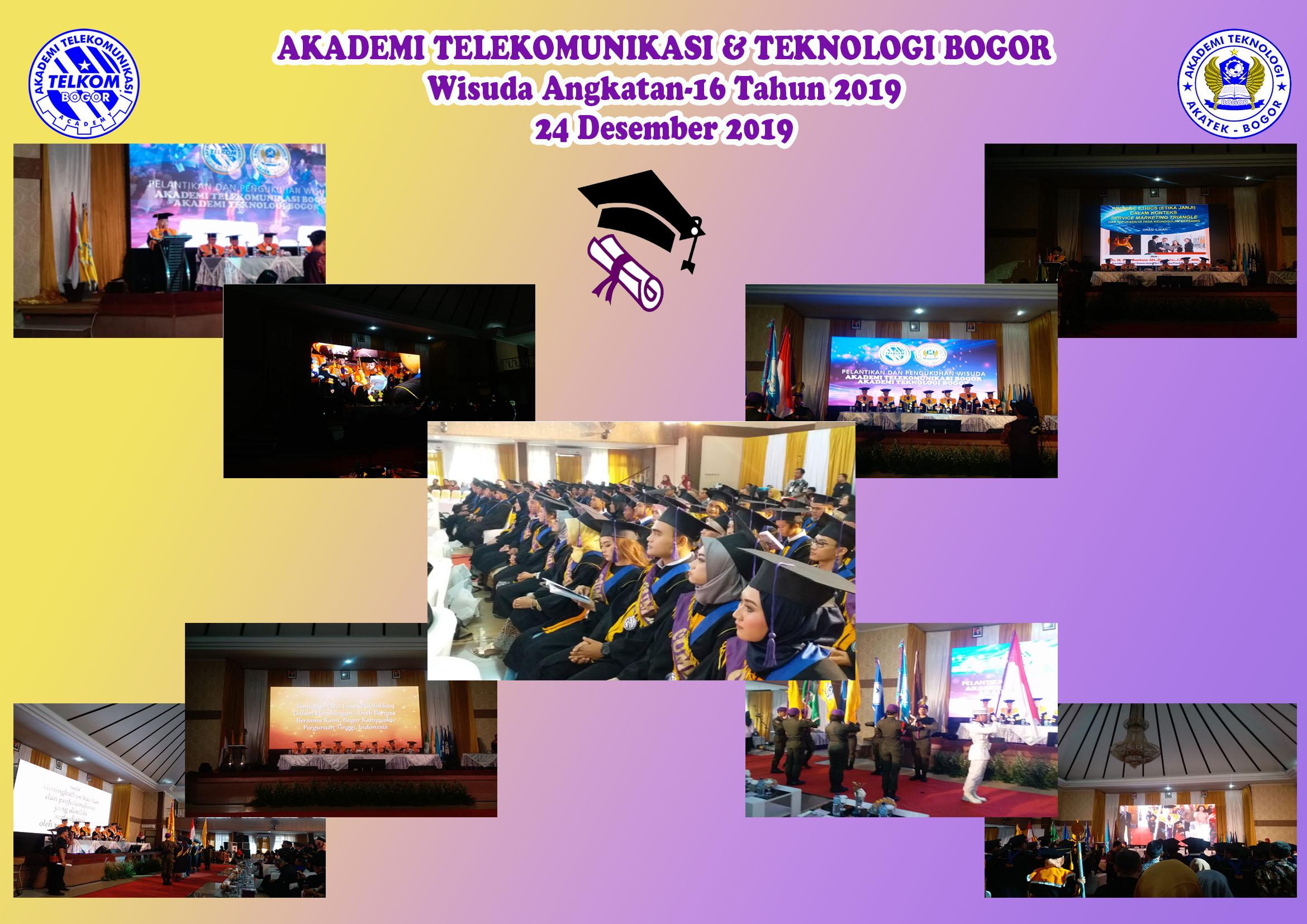 Wisuda Akademi Telekomunikasi Bogor Angkatan -16 Tahun 2019