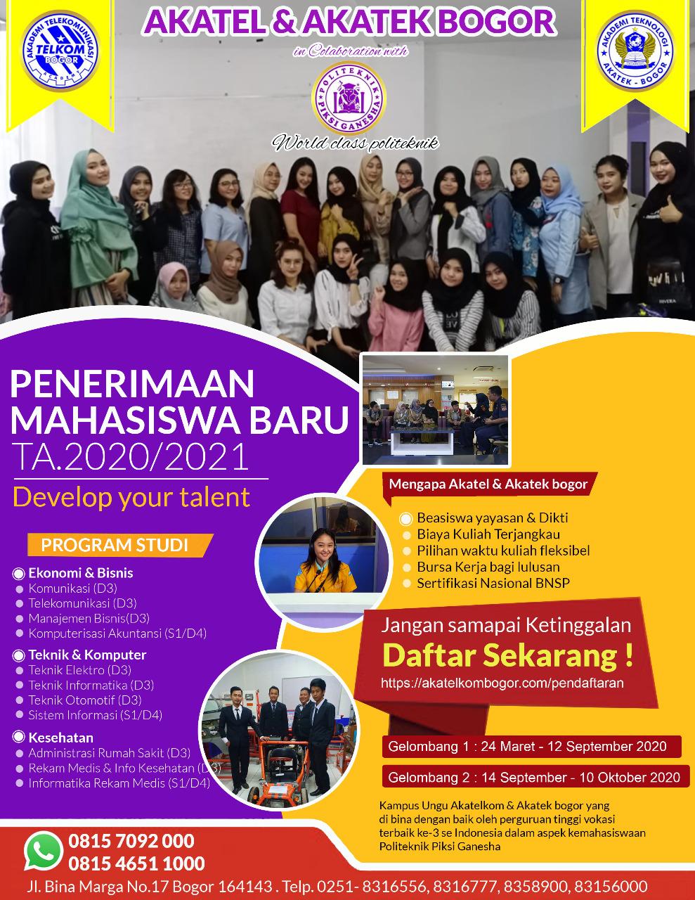 Penerimaan Mahasiswa Baru TA.2020/2021